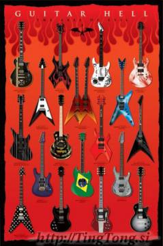 Poster Guitar Hell 7362
