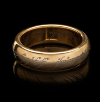 Ring Inscription-Lord Of The Rings 43095